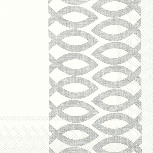 Servietten 33x33 cm - CEREMONIAL DAY Silber