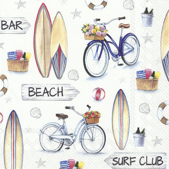 Servietten 33x33 cm - SURF CLUB