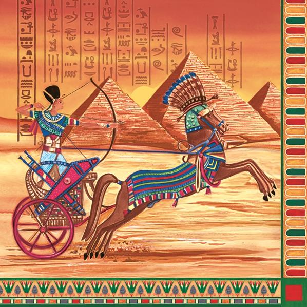 Servietten 33x33 cm - Ägyptischer Chariot