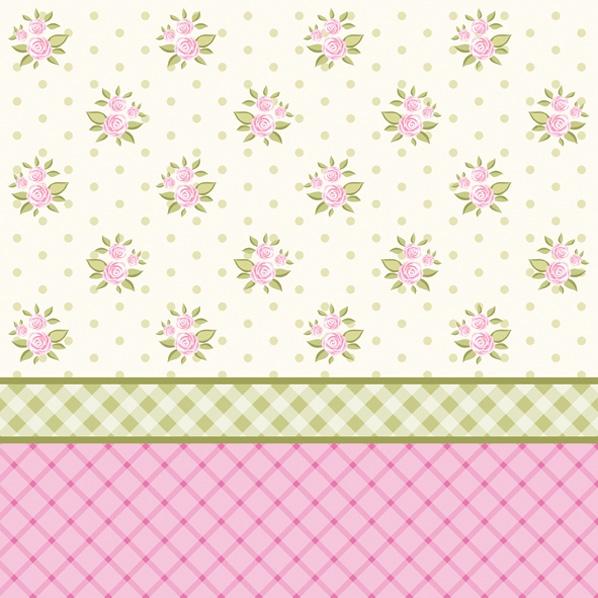 Servietten 33x33 cm - English Floral Wallpaper