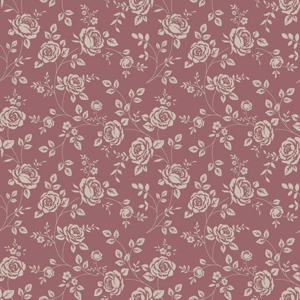 Servietten 33x33 cm - Kleine Rosen Marsala