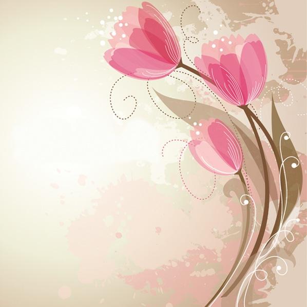 Servietten 33x33 cm - Grafische Tulpen