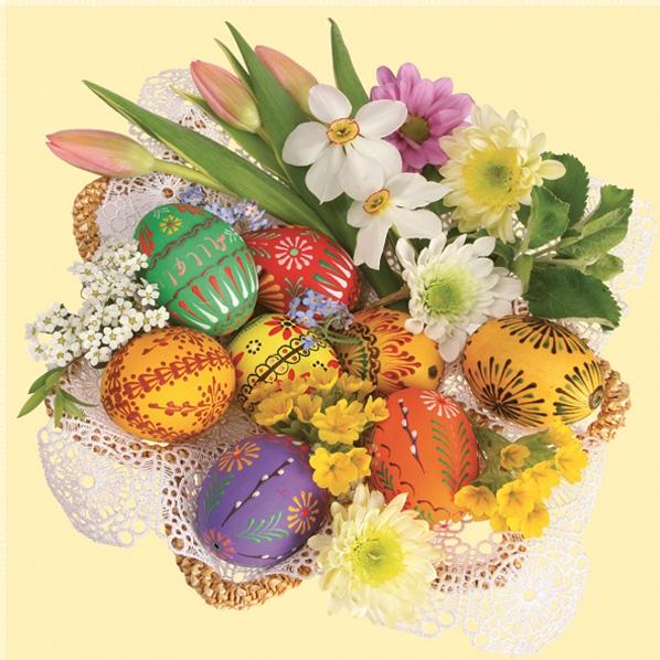 Servietten 33x33 cm - Easter Composition