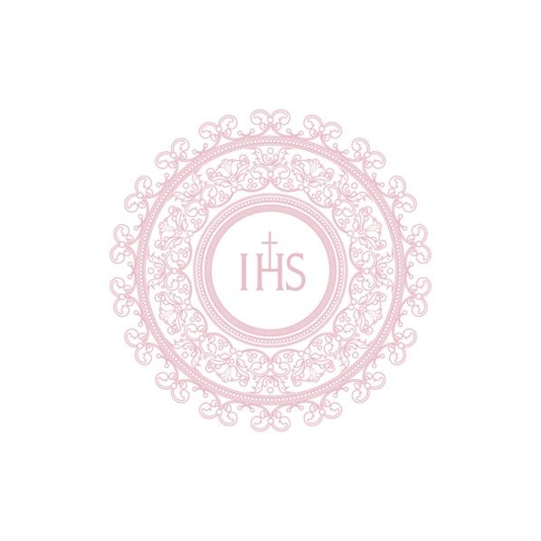 Servietten 33x33 cm - IHS Stickerei-Design Rosa
