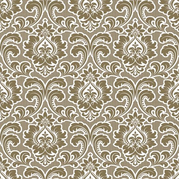 Servietten 33x33 cm - Tapete Muster Gold