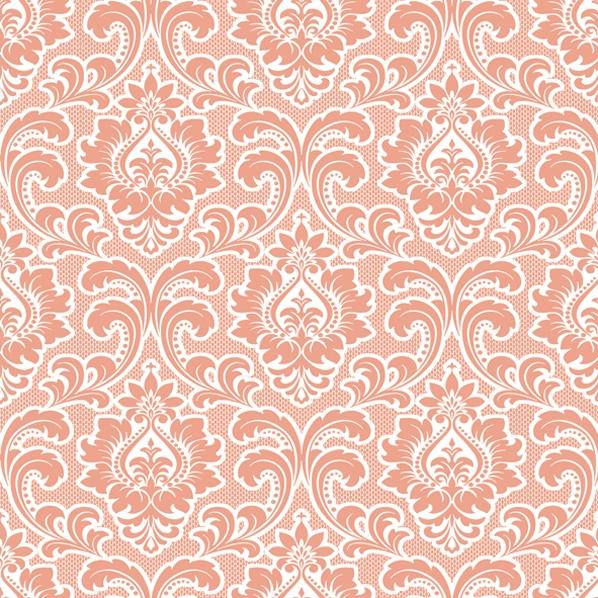 Servietten 33x33 cm - Hintergrundbild Muster Lachs