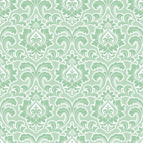 Servietten 33x33 cm - Hintergrundbild Muster Minze