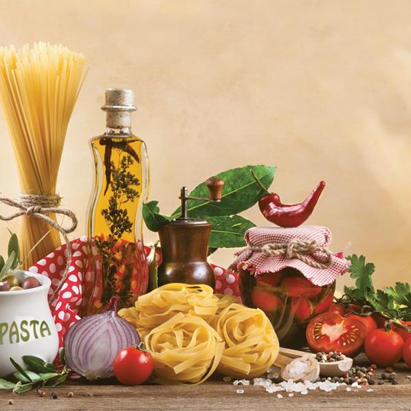 Servietten 33x33 cm - Italienisches Essen