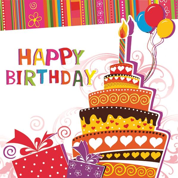 Servietten 33x33 cm - Tasty Birthday Cake