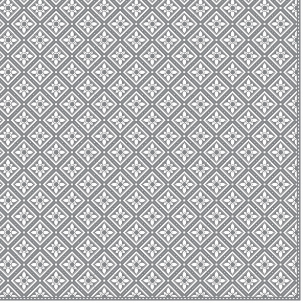 Servietten 33x33 cm - Geometrische Fliesen Silber