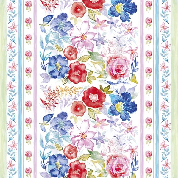 Servietten 33x33 cm - Aquarell Blumenmuster