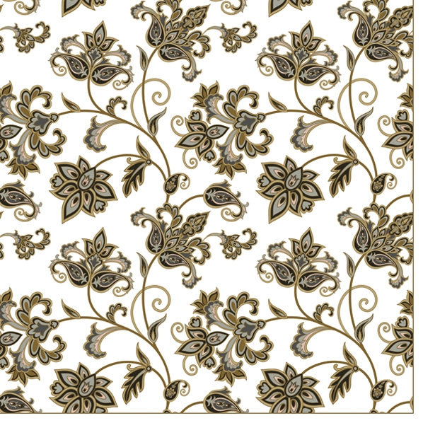 Servietten 33x33 cm - Floral Oriental Background