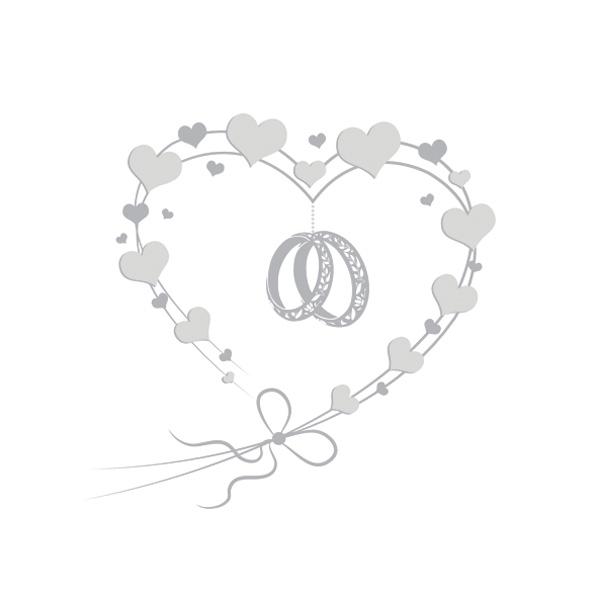 Servietten 33x33 cm - Wedding Rings in Heart Silver (pearl effect)
