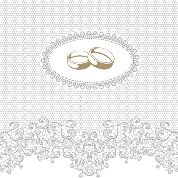 Servietten 33x33 cm - Wedding Rings with Silver Ornaments