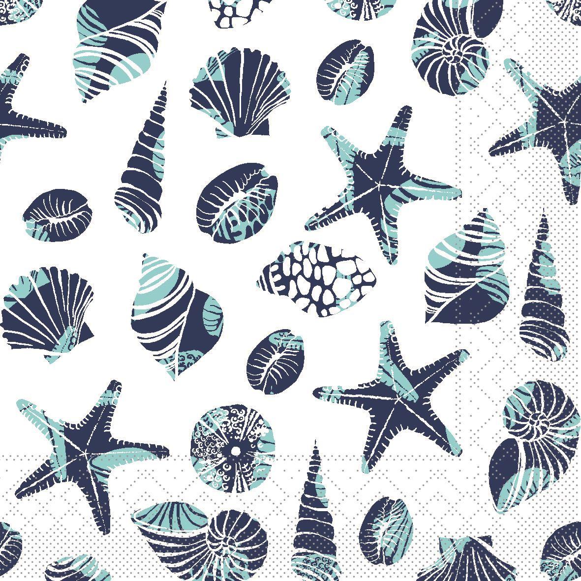Tissue Servietten 33x33 cm - Strand (blau)