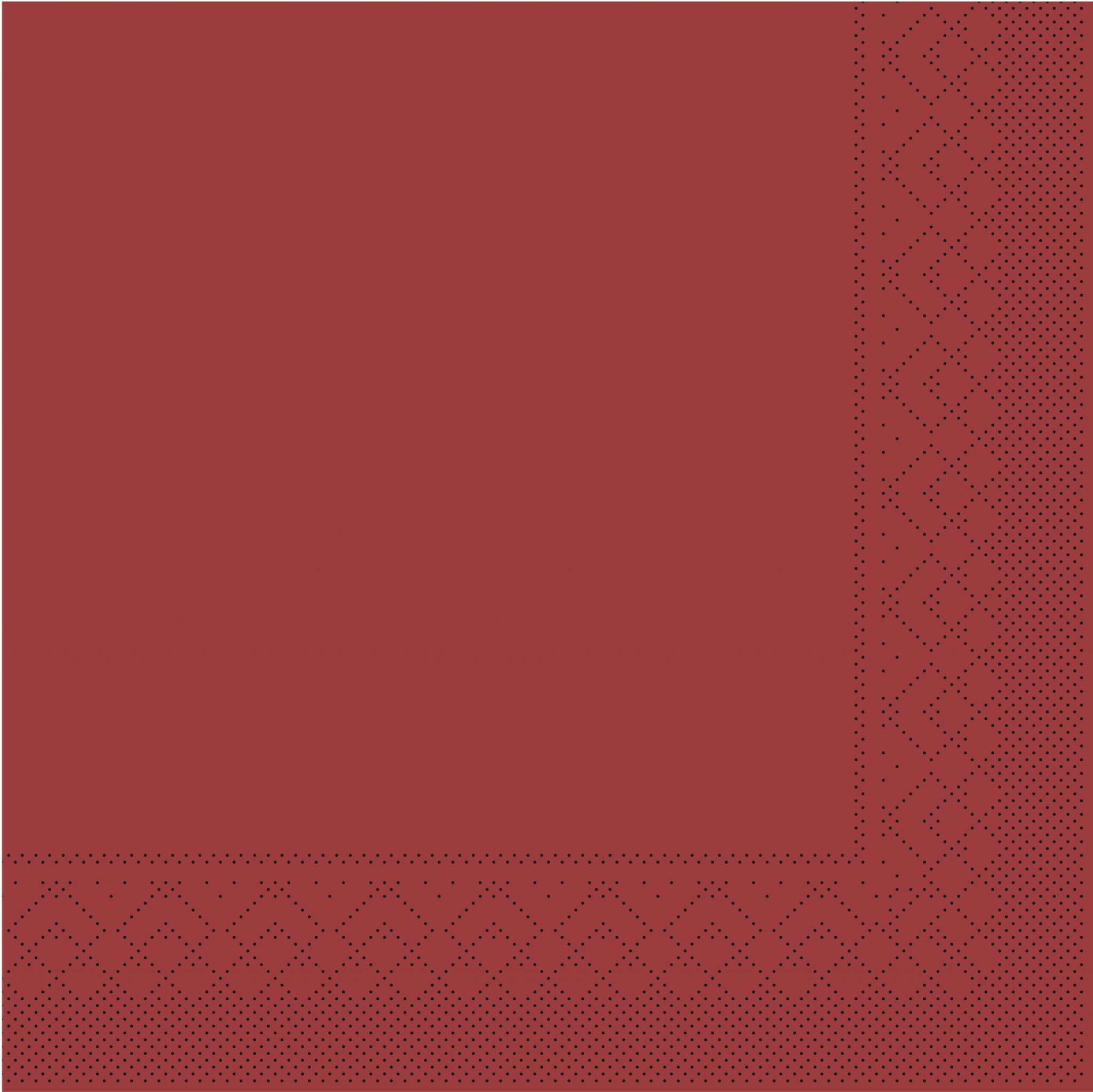 Tissue Servietten 33x33 cm - BORDEAUX