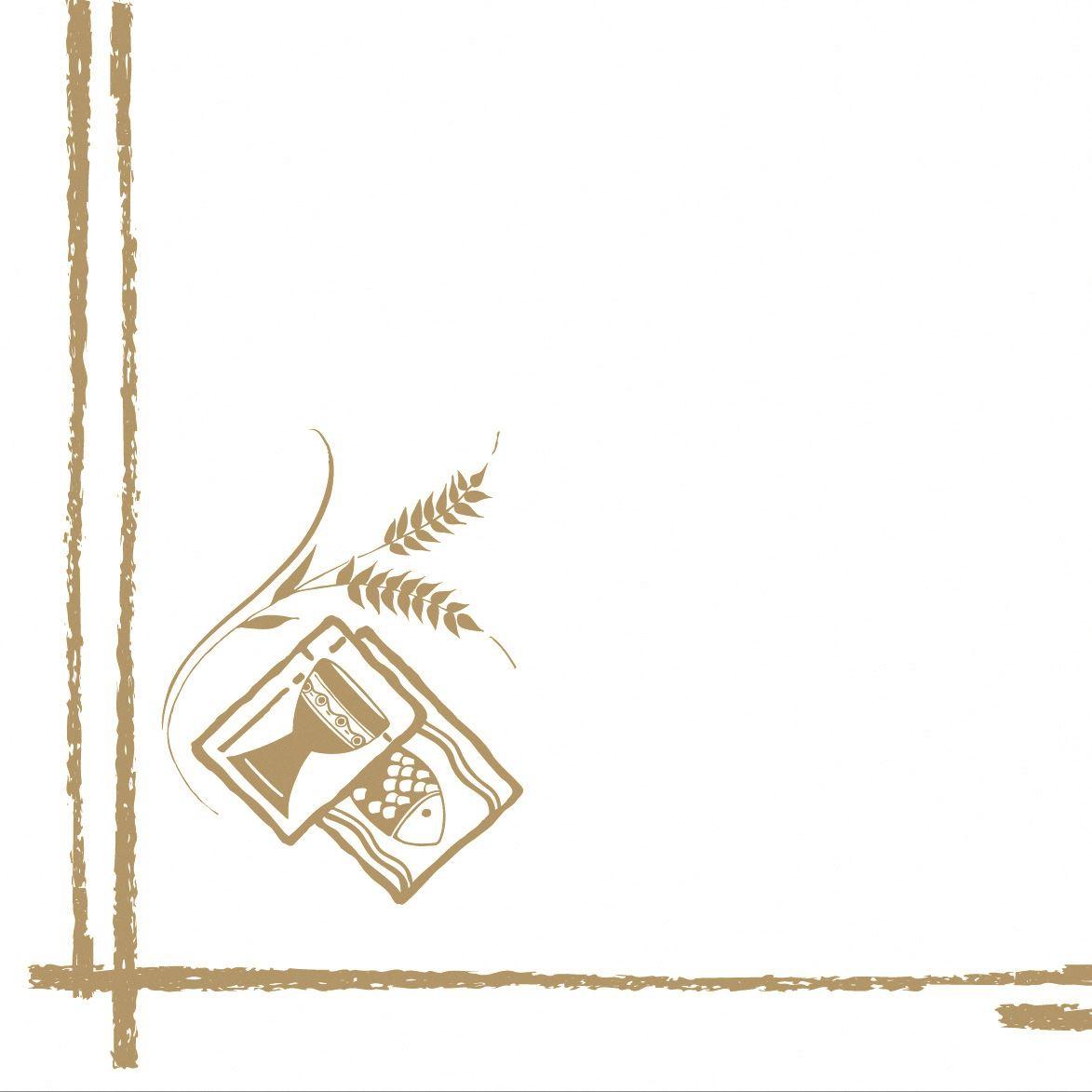 Linclass Servietten 40x40 cm - Kommunion/Bestätigung