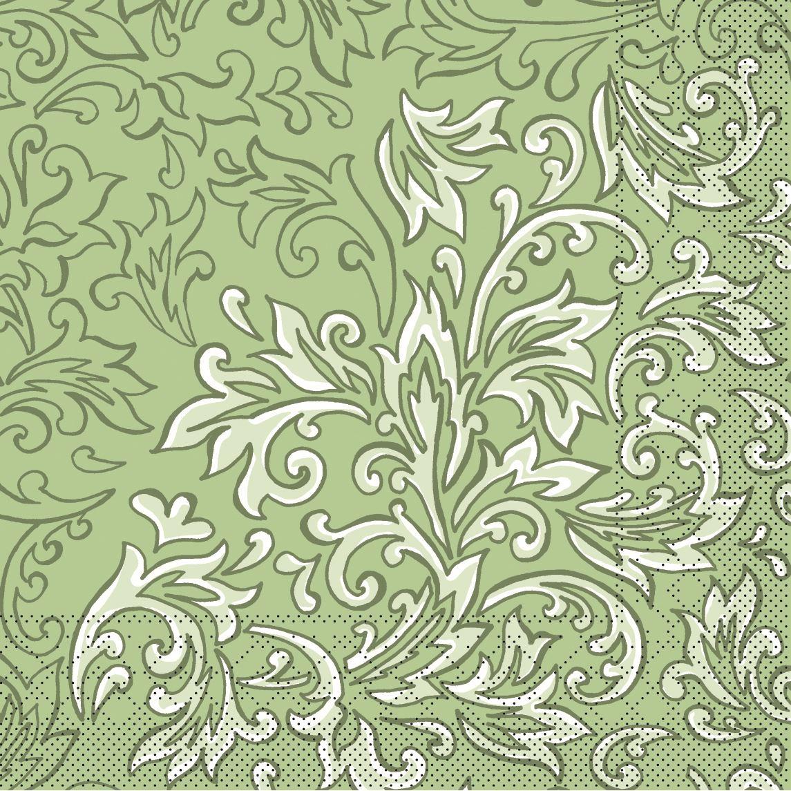 Tissue Servietten 33x33 cm - Delia (grün)