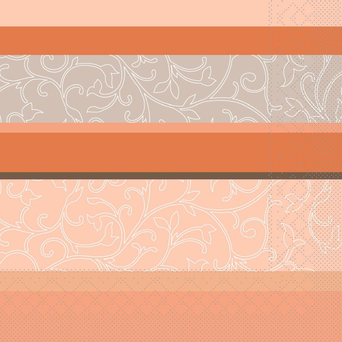 Tissue Servietten 33x33 cm - Zara (Terrakotta)