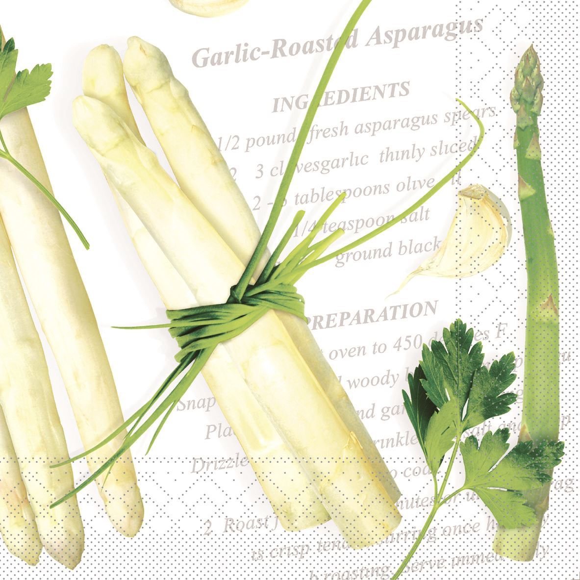 Tissue Servietten 40x40 cm - Asparagus