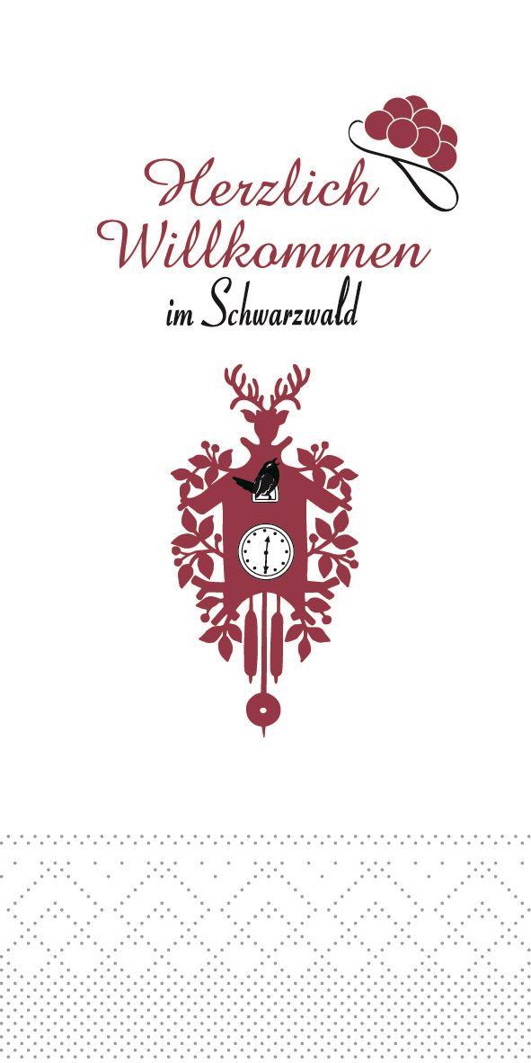 Tissue Servietten 40x40 cm - Willkommen im Schwarzwald