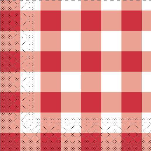 Tissue Servietten 25x25 cm - Karo (Fäulnis)