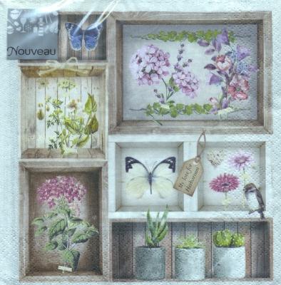 Servietten 33x33 cm - Herbarium