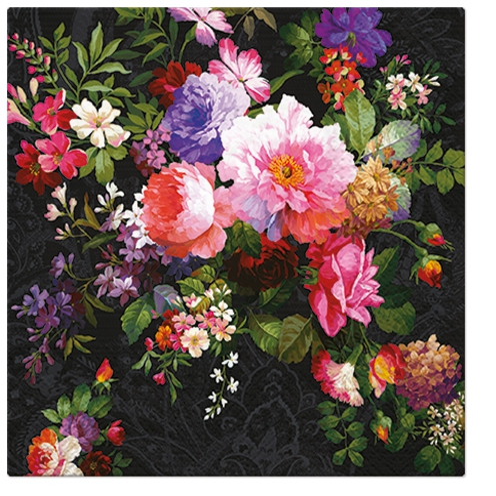 Lunch Servietten Roses on Velvet