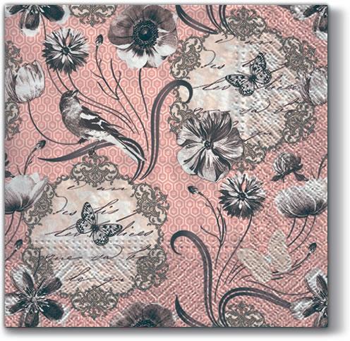 Servietten 33x33 cm - Victorian Flowers