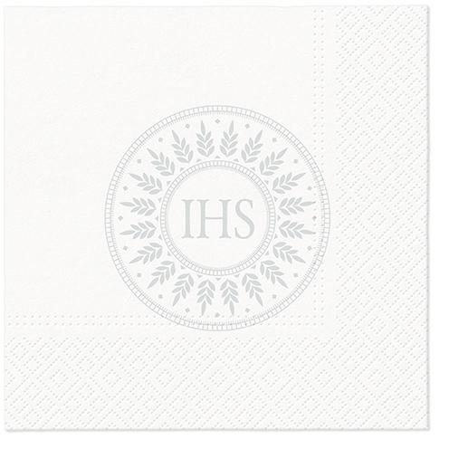 Servietten 33x33 cm - Gesegnete Zeit (Silber)
