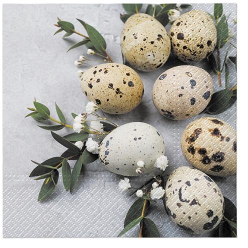 Servietten 33x33 cm - Natürliche Eier
