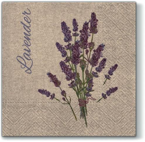 Servietten 33x33 cm - Wir betreuen Lavendel für Sie