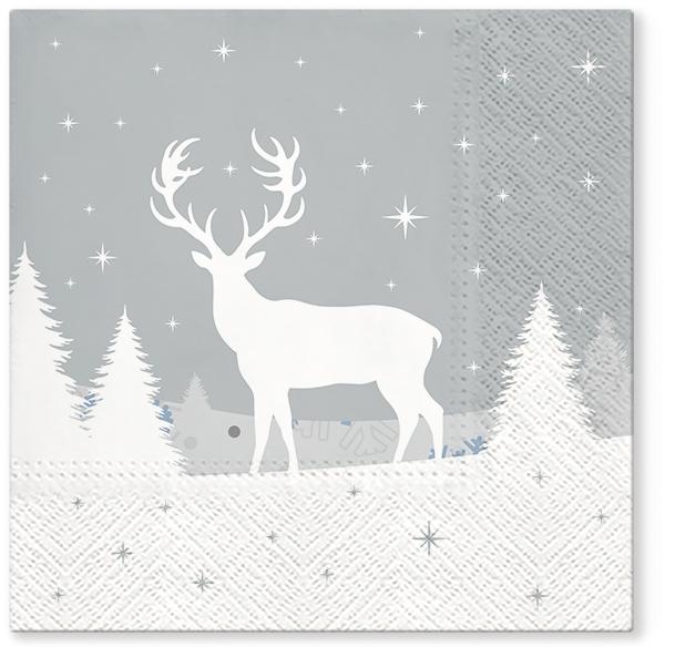 Servietten 33x33 cm - Forest deer