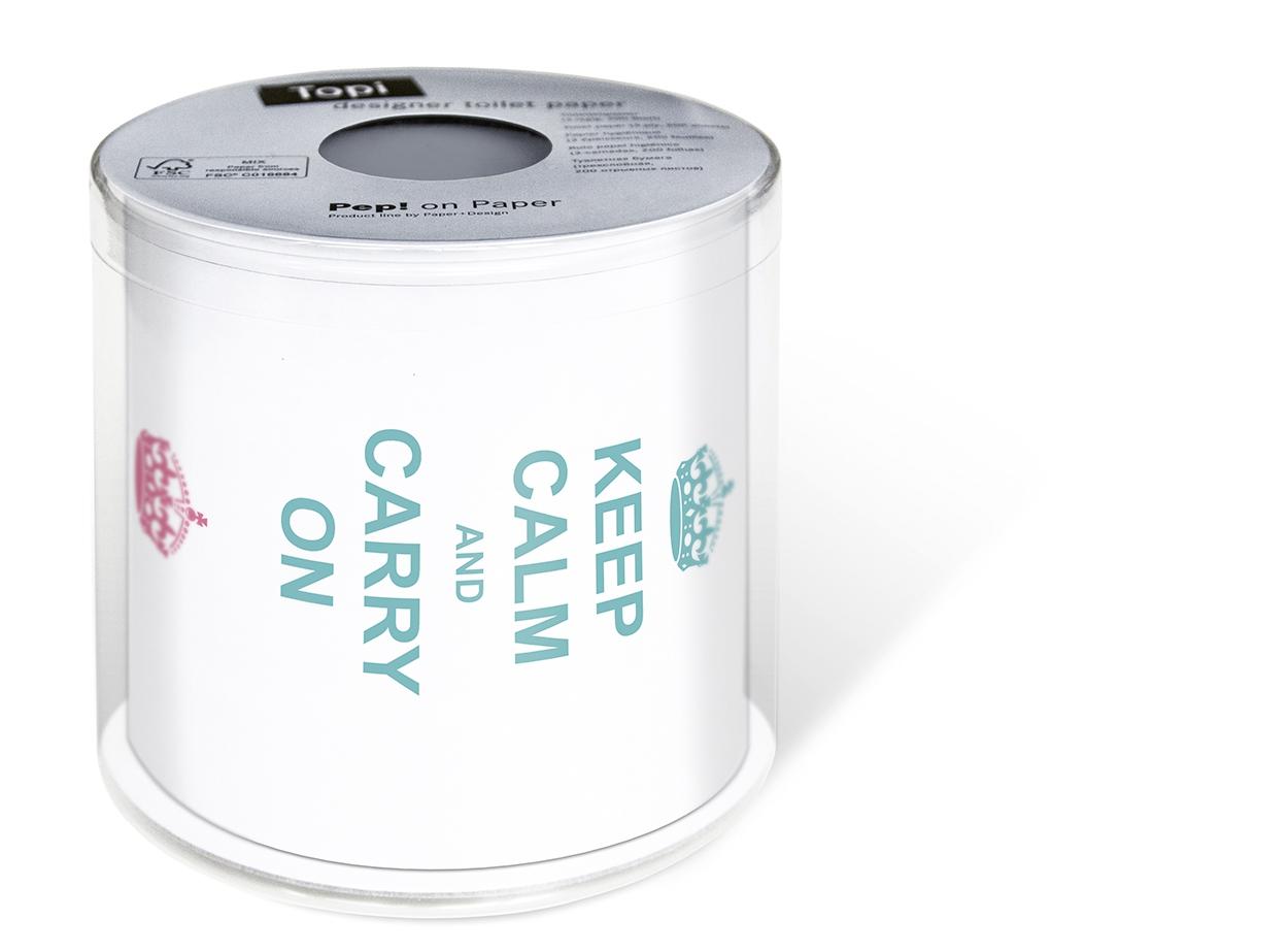 Toilettenpapier - Topi Ruhe bewahren