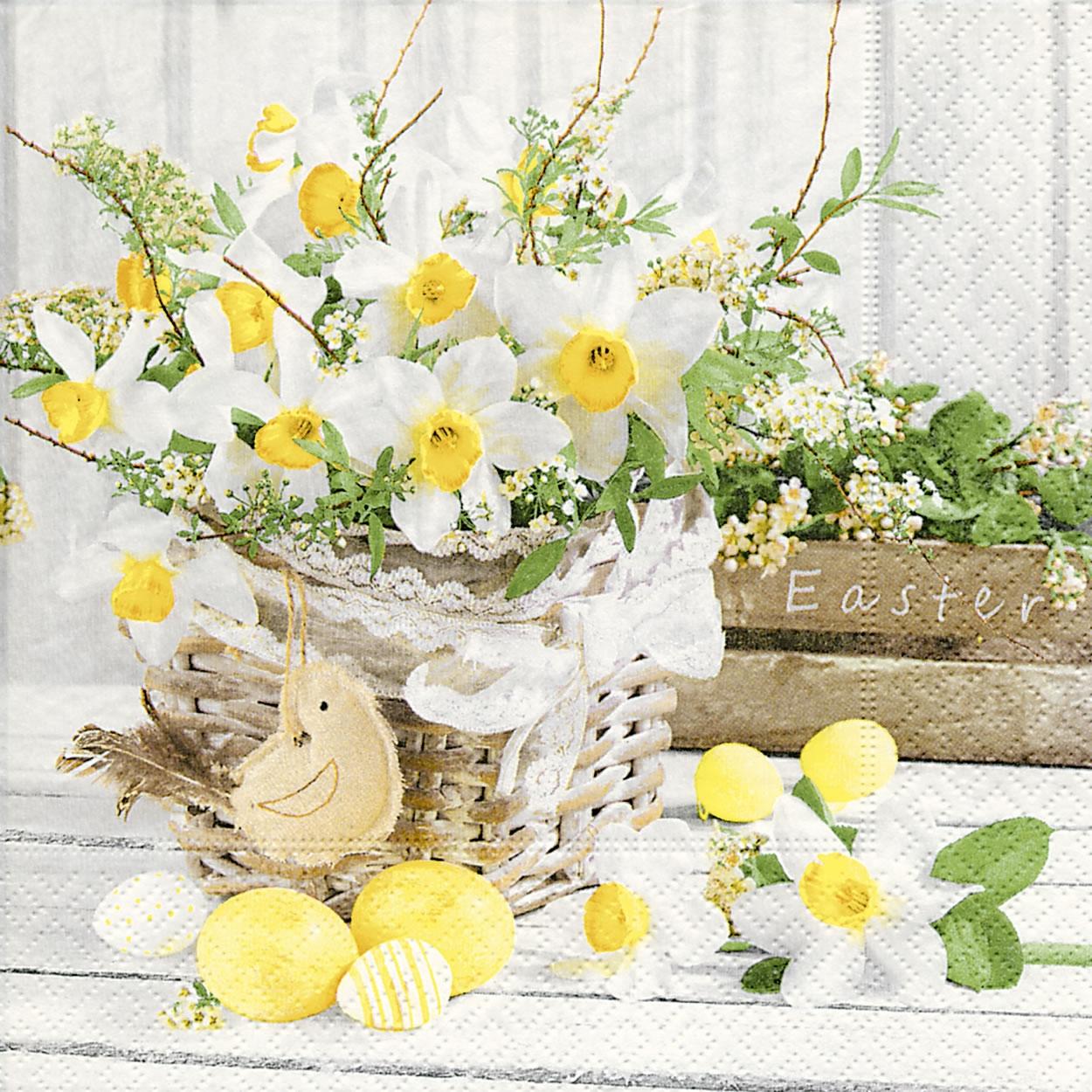Servietten 33x33 cm - Blooming easter