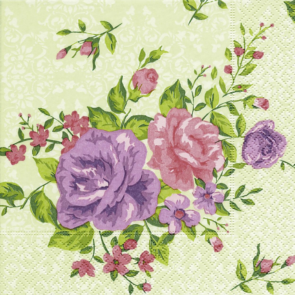 Servietten 33x33 cm - Georgia roses