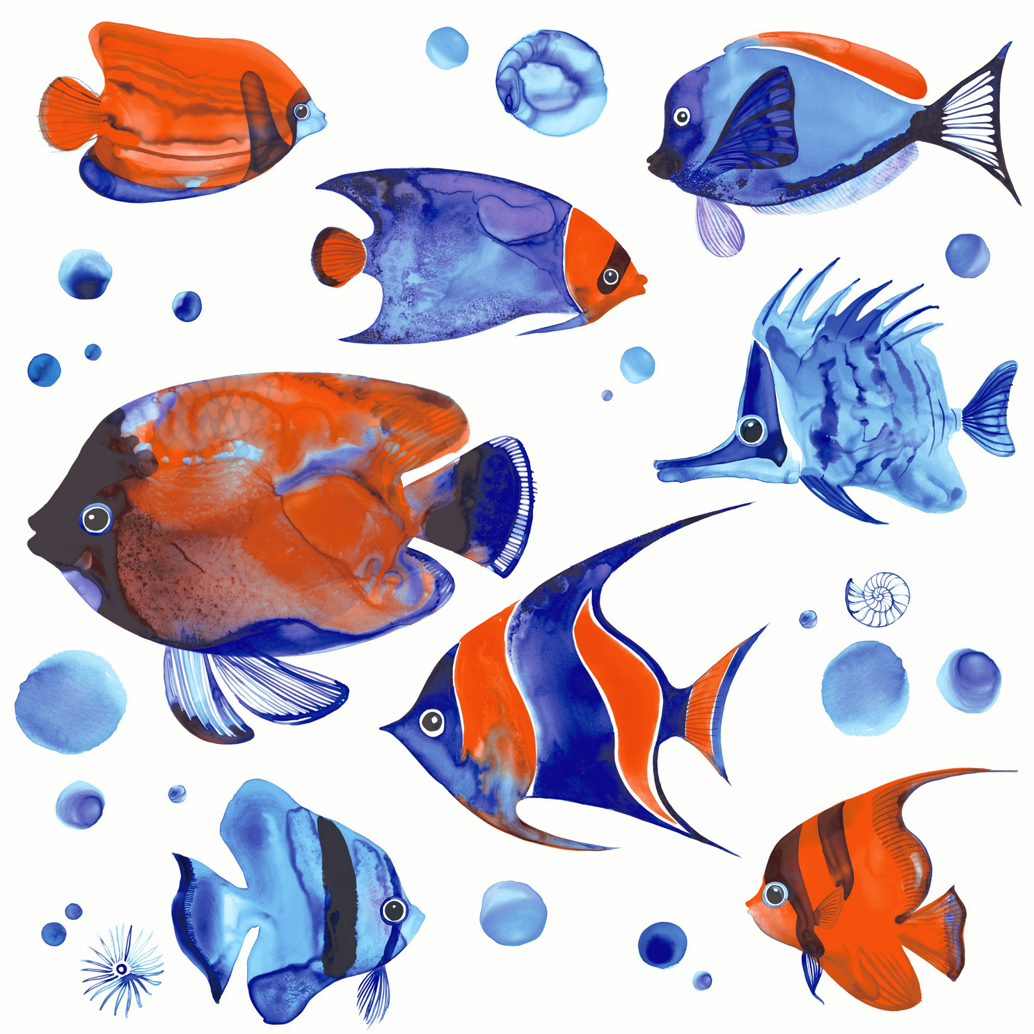 Servietten 33x33 cm - Tropische Fische