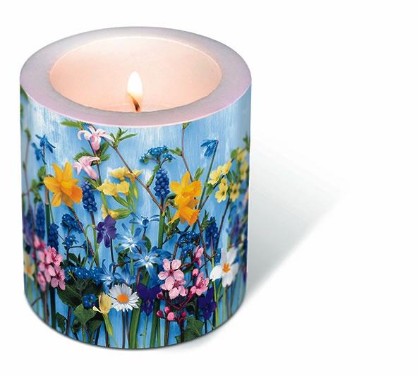 Dekorkerze - Frühlingsblumen