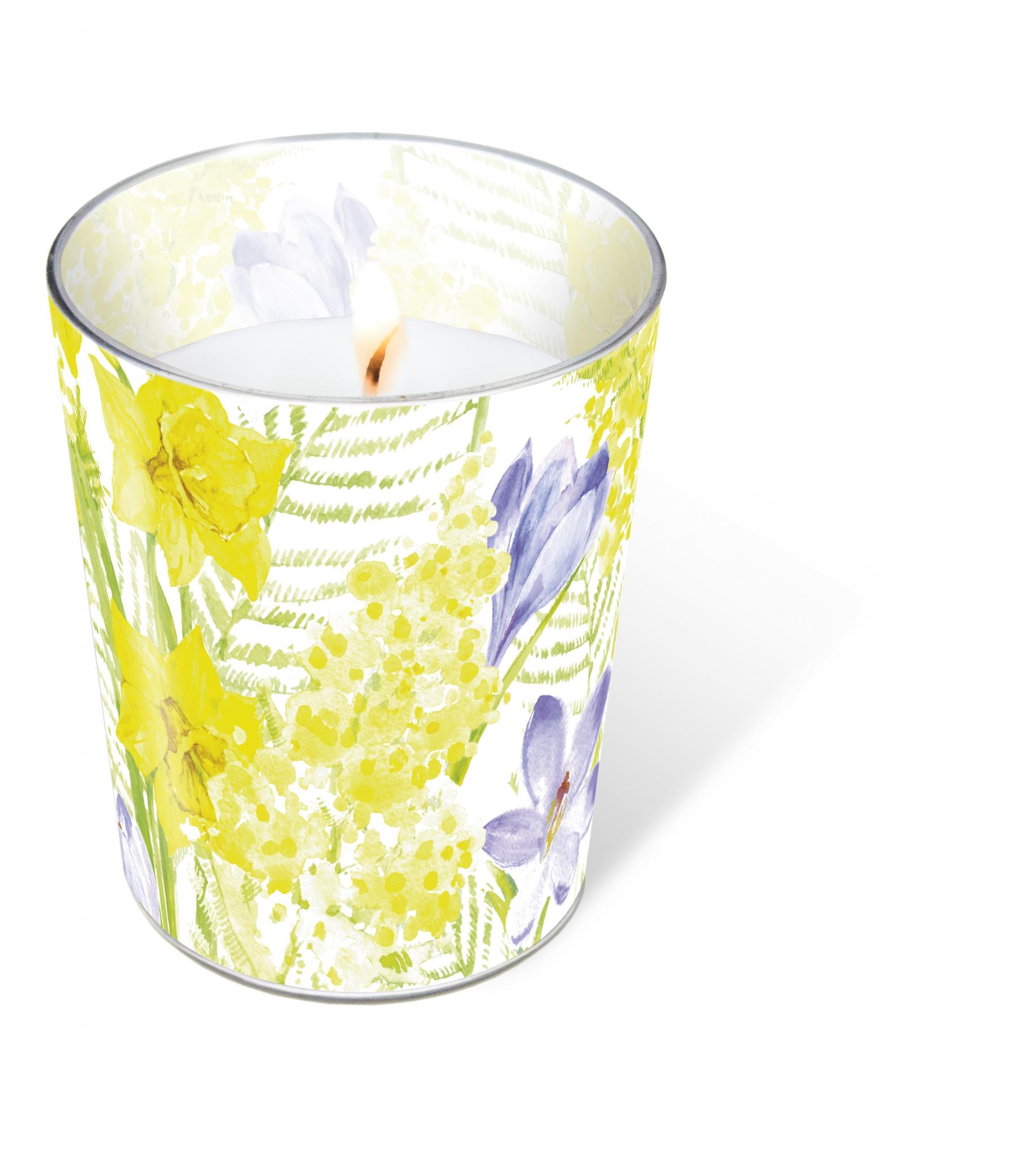 Glaskerze - Spring mantra