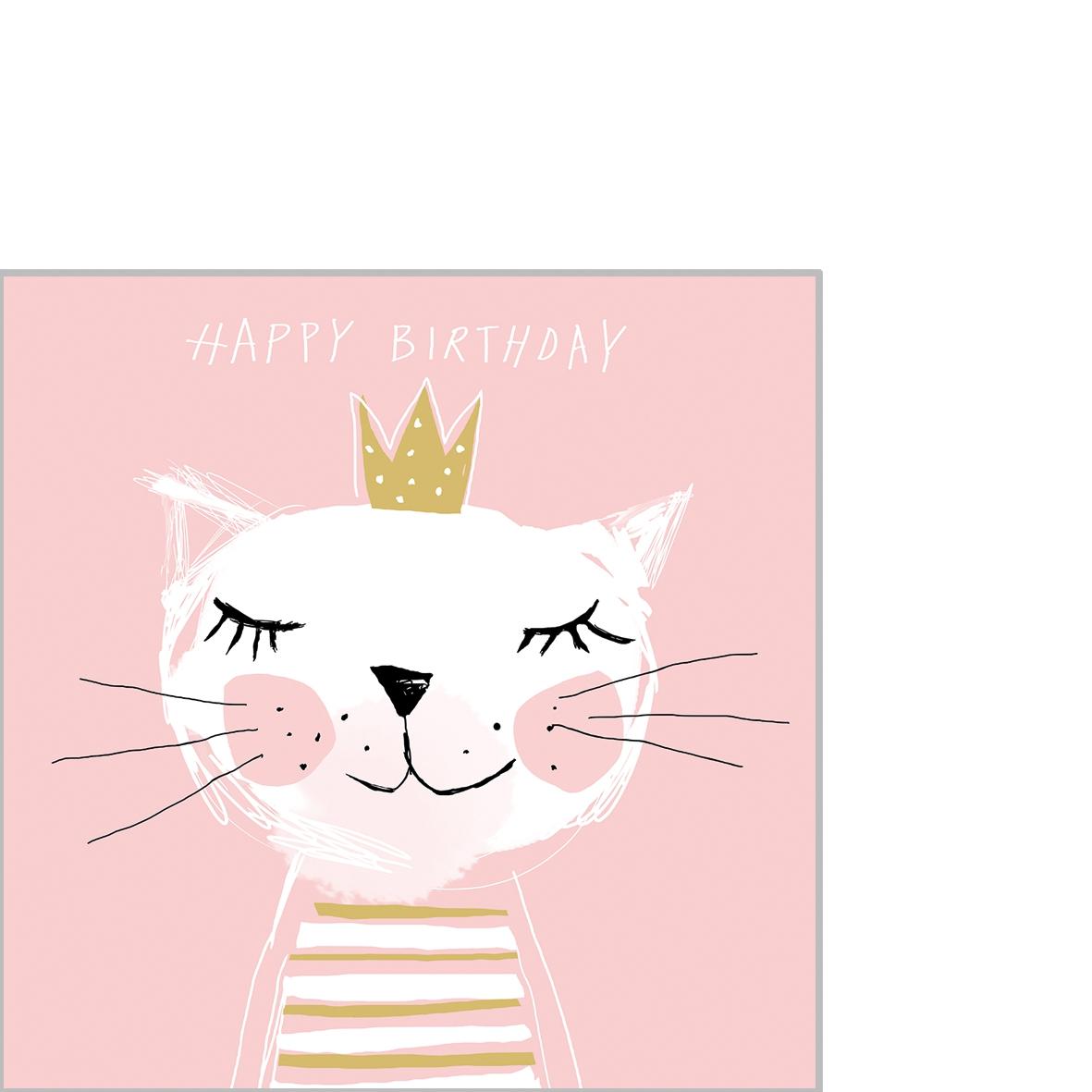Servietten 25x25 cm - Herzlichen Glückwunsch zum Geburtstag Prinzessin