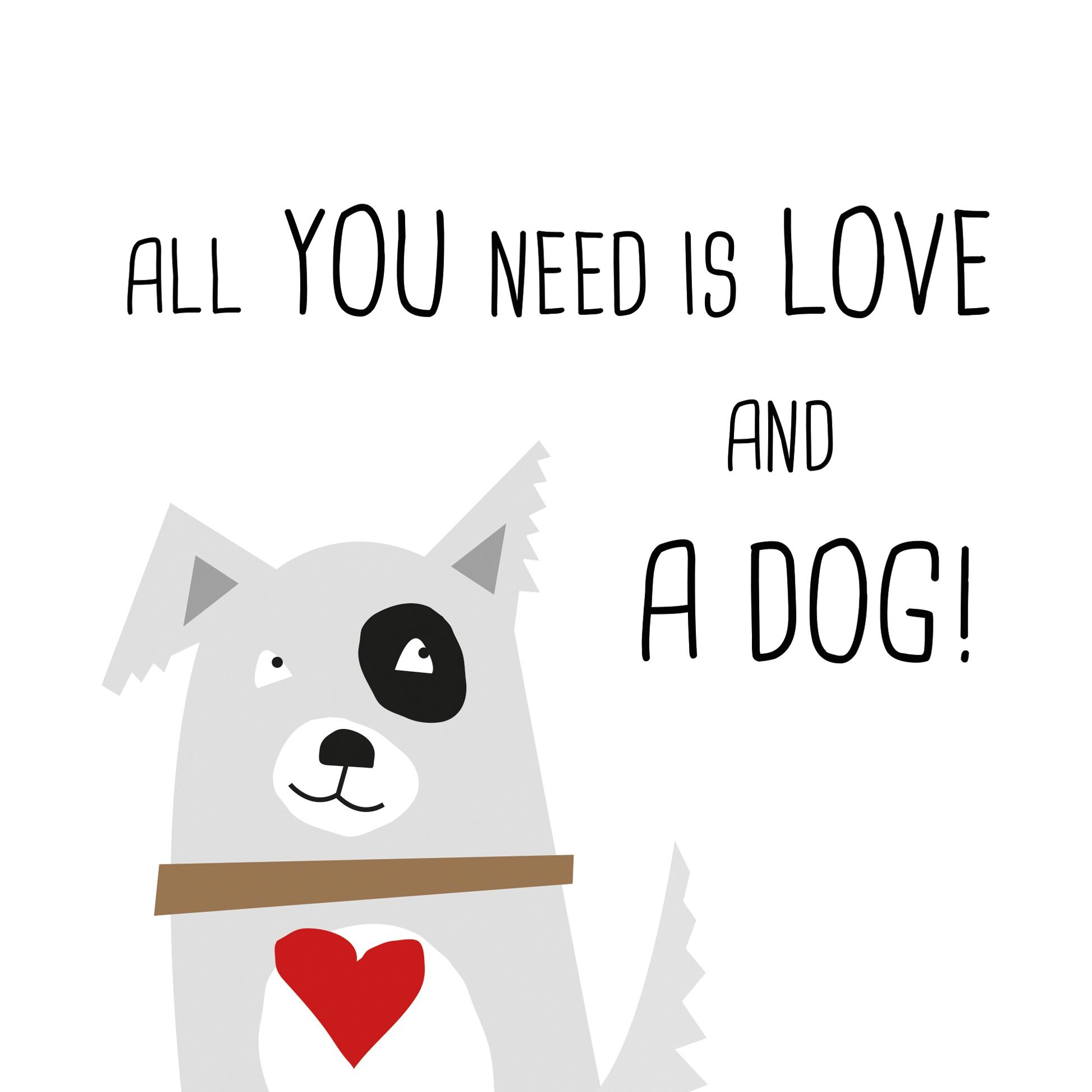 Servietten 33x33 cm - Liebe und Hund