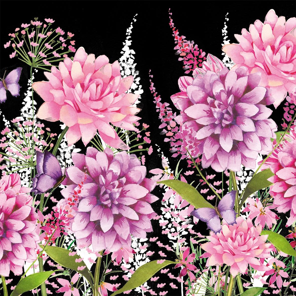 Servietten 33x33 cm - Flower Beat