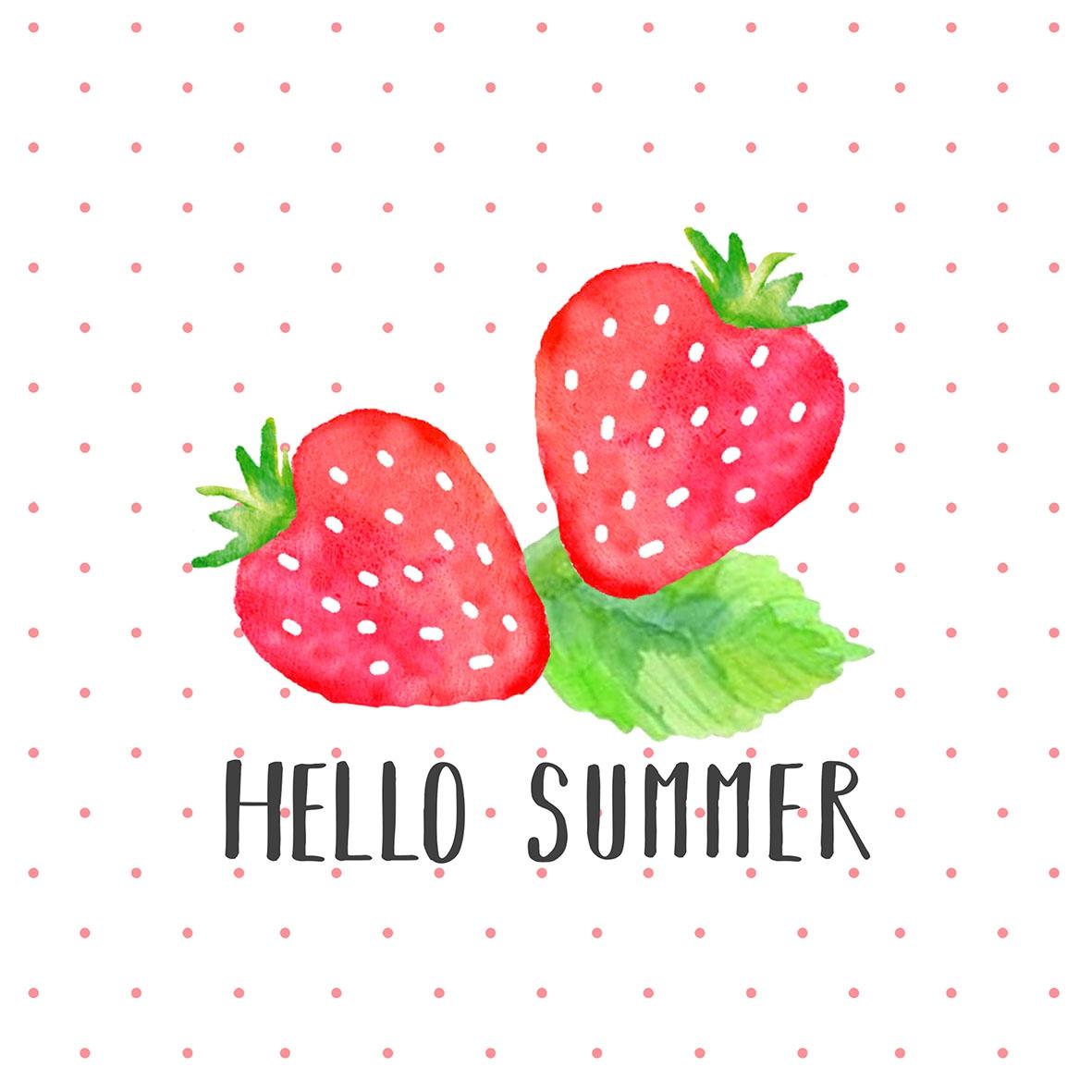 Servietten 33x33 cm - Hello Summer