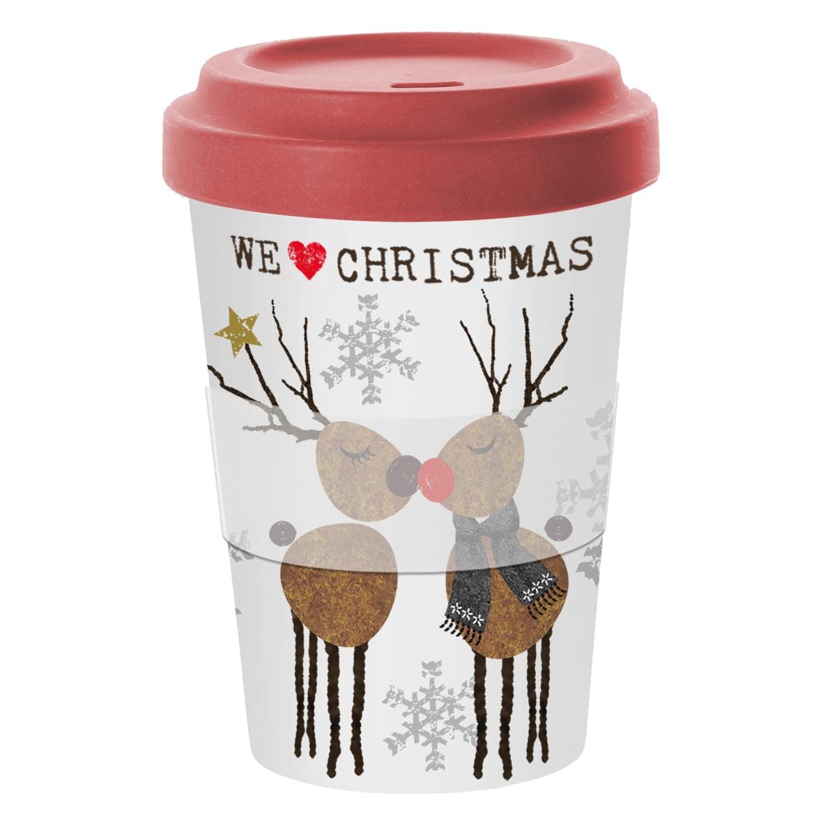 Bamboo mug To-Go - Wir lieben Weihnachten