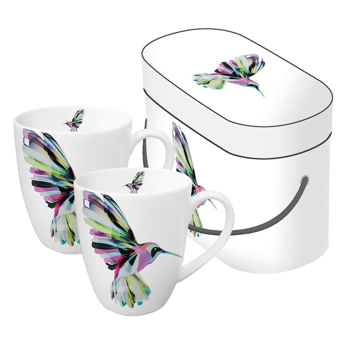 Porzellan-Henkelbecher - Korfu Kolibri