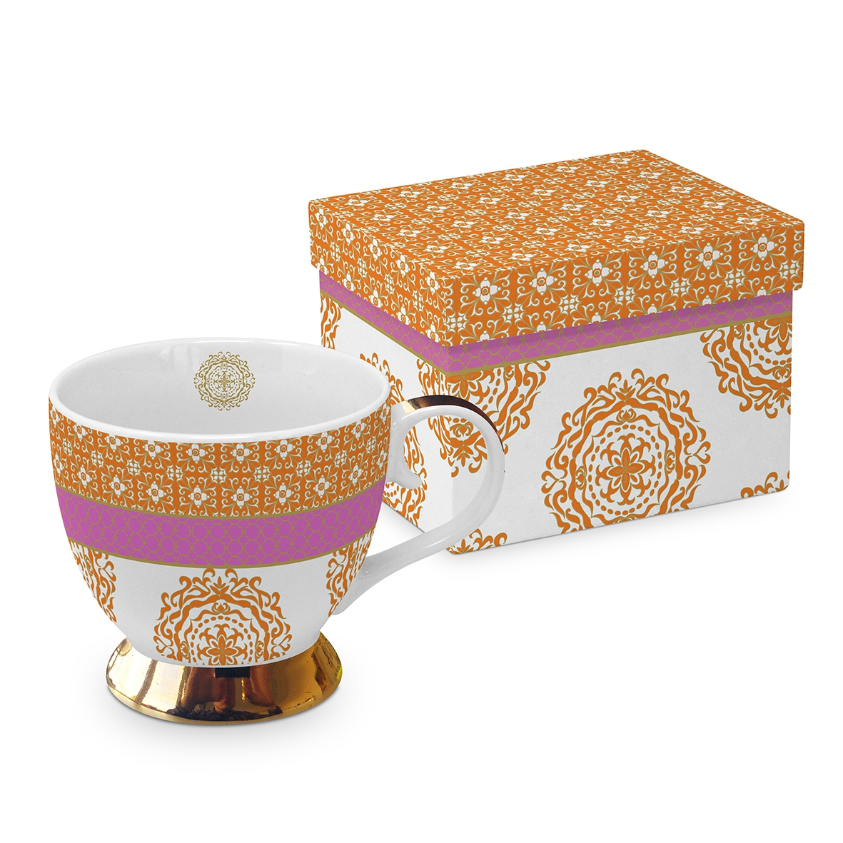 Classic Tasse - Madaket orange pink real gold