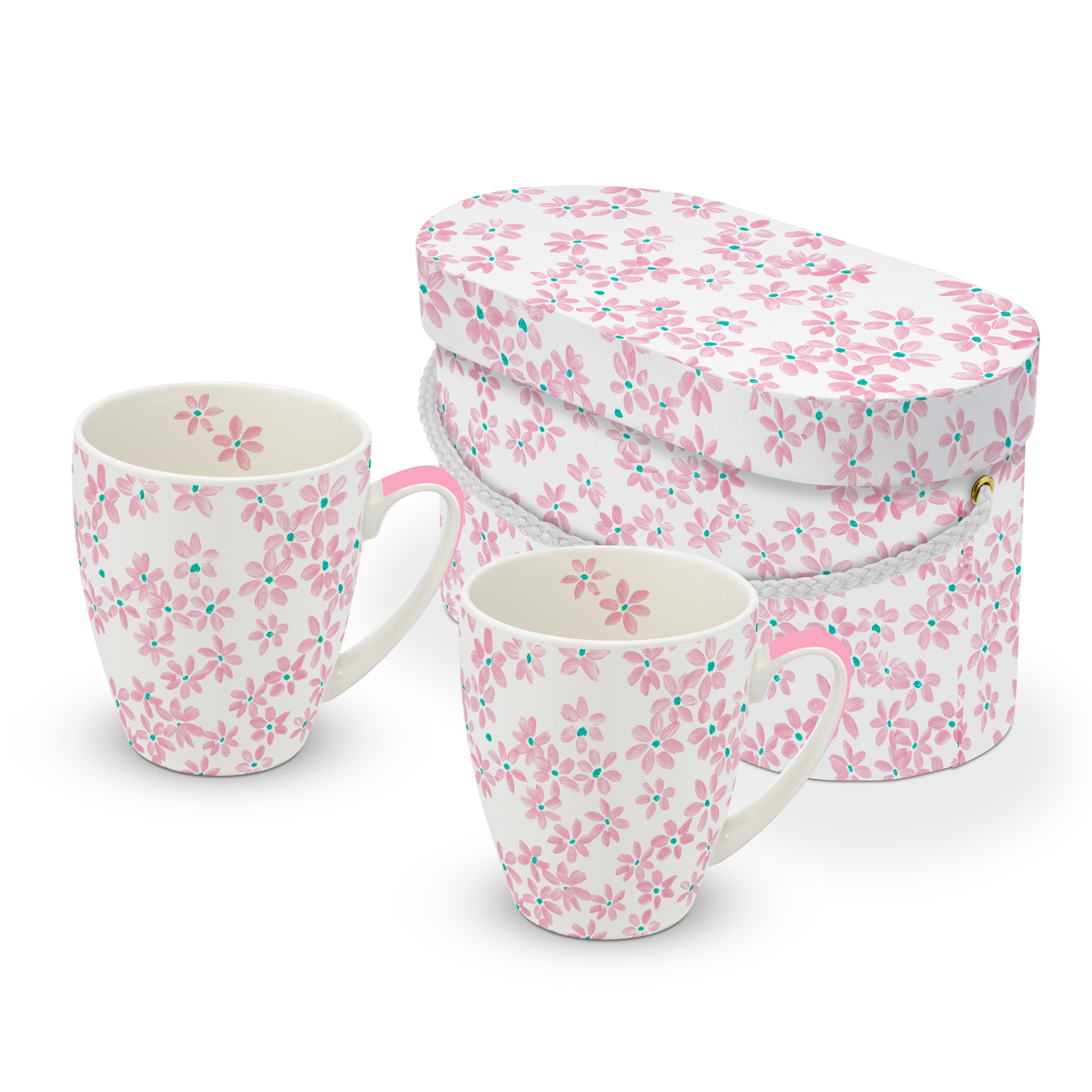 Porzellan-Henkelbecher - Hübsch in Rosé