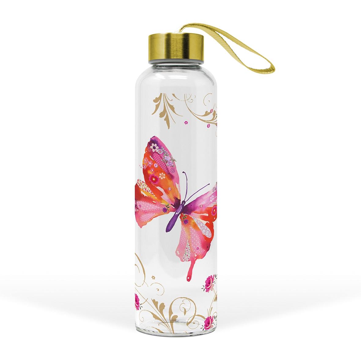 Glasflasche - Hübscher Schmetterling