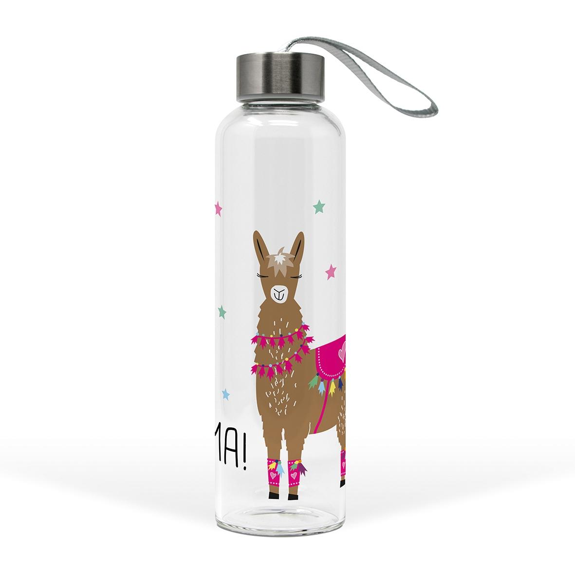 Glasflasche - Drama Llama