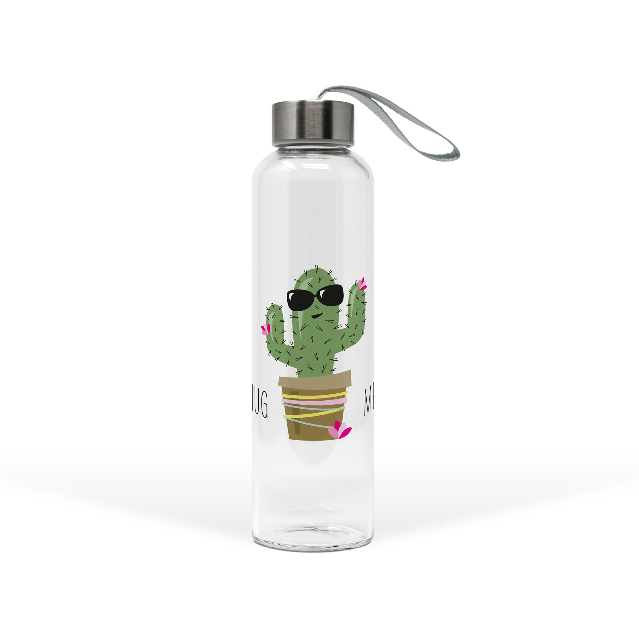 Glasflasche - Umarme mich Kaktus